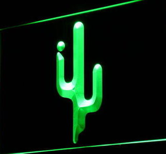 Cactus neon sign LED