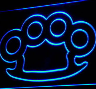 Brass Knuckles neon sign LED
