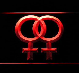 Lesbian Love neon sign LED