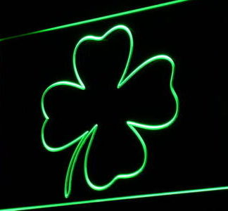 Four-Leaf Clover neon sign LED