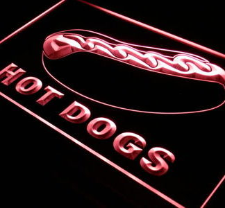 Hot Dogs neon sign LED