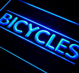 Bicycles neon sign LED