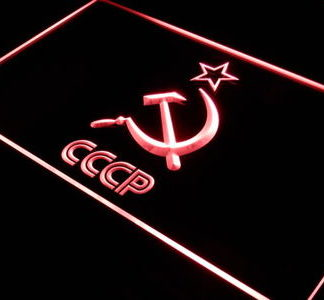 Soviet Union neon sign LED