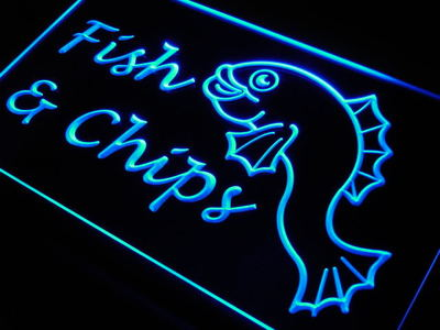 Fish & Chips neon sign LED