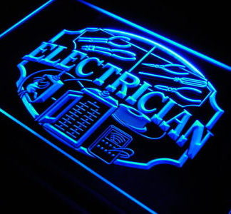 Electrician neon sign LED