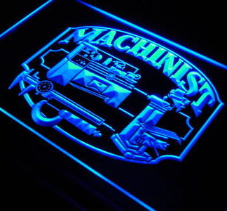 Machinist neon sign LED