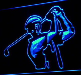 Golfer neon sign LED