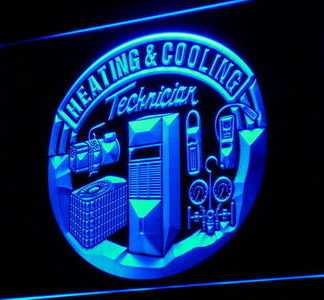 Heating & Cooling Technician neon sign LED