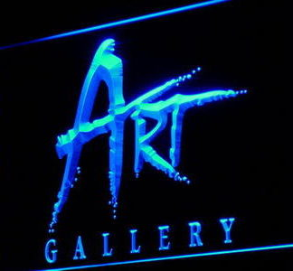 Art Gallery neon sign LED