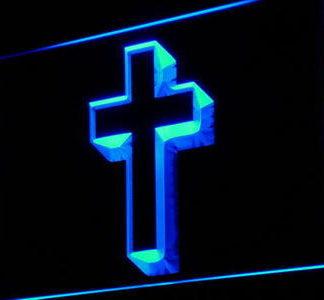 Cross Crucifix neon sign LED