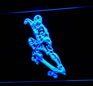 Skateboarding neon sign LED