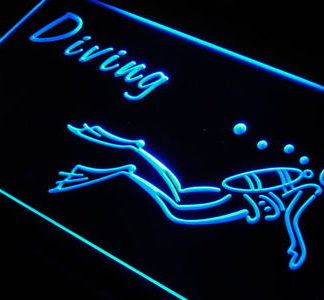 Diving neon sign LED