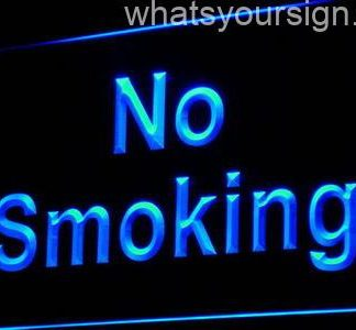 No Smoking neon sign LED