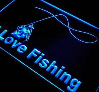 I Love Fishing neon sign LED