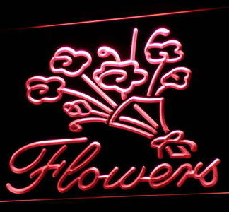 Flowers neon sign LED