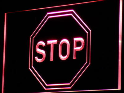 Stop Sign neon sign LED