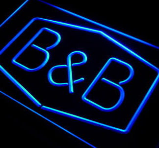 B&B neon sign LED