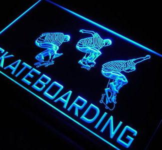 Skateboarding neon sign LED