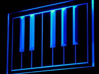 Piano keyboard neon sign LED