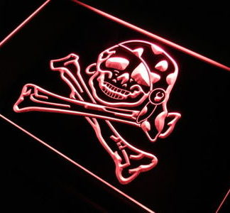 Pirate Skull neon sign LED