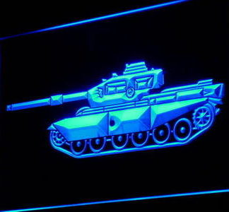 Tank neon sign LED