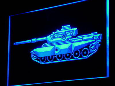 Tank neon sign LED