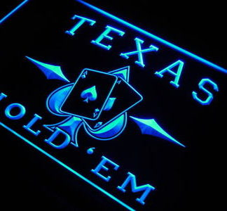Texas Hold'em neon sign LED