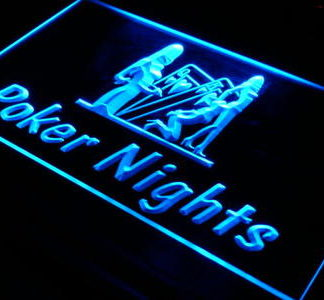 Poker Nights neon sign LED