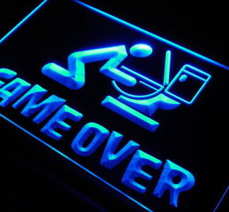 Game Over neon sign LED