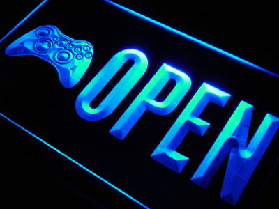 Game Room Open neon sign LED