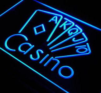 Casino neon sign LED