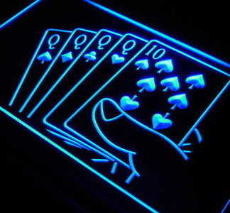 Cards neon sign LED