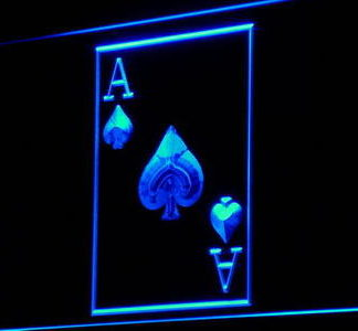 Ace of Spades neon sign LED