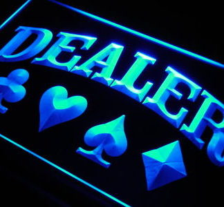 Poker Dealer neon sign LED