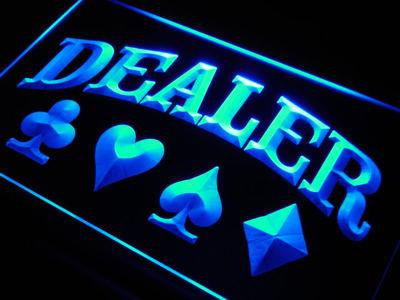 Poker Dealer neon sign LED