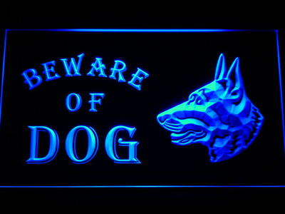 Beware of Dog neon sign LED