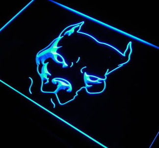 Pit Bull Terrier neon sign LED