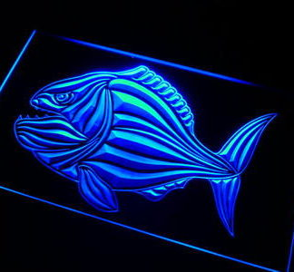 Piranha neon sign LED