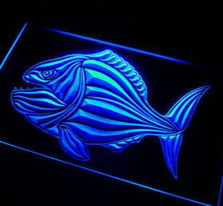 Piranha neon sign LED