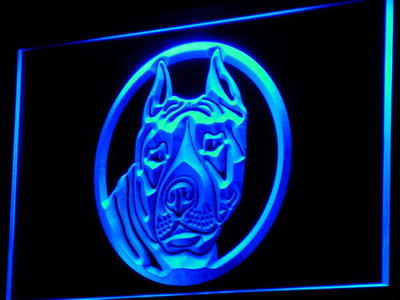 Staffordshire Bull Terrier neon sign LED