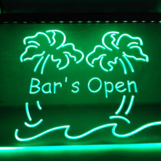 Bar's Open neon sign LED