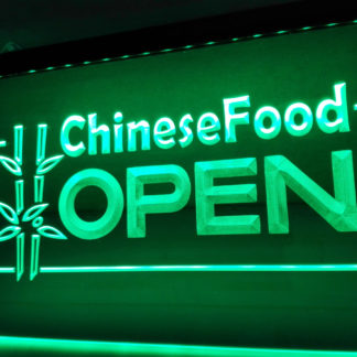 Chinese Food Open neon sign LED