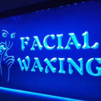 Facial Waxing neon sign LED