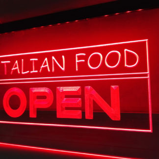 Italian Food Open neon sign LED
