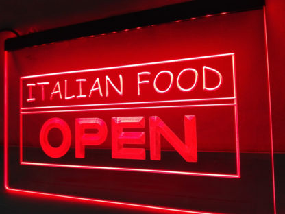 Italian Food Open neon sign LED