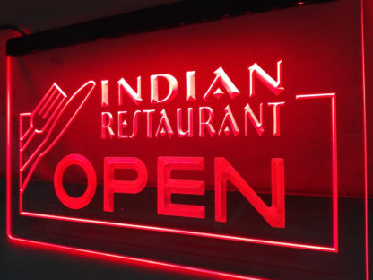 Indian Restaurant Open neon sign LED