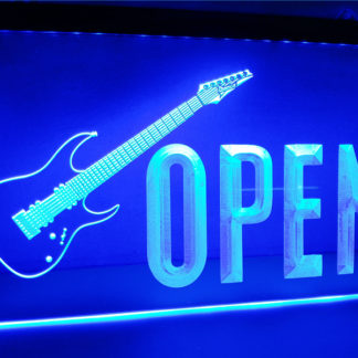 Music Store Open neon sign LED