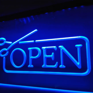Barber Shop Hairdresser Open neon sign LED