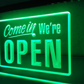 Come in we're OPEN neon sign LED