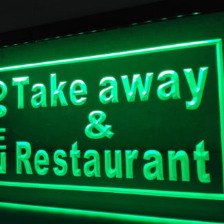 Open Take away & Restaurant neon sign LED